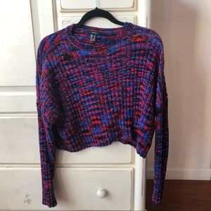 super soft 80s look slightly cropped sweater
